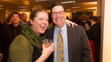 Bill Peduto and guest at holiday party 2014