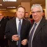 Senator Wayne D. Fontana and John Paul Jones enjoy a moment at Pittsburgh's Holiday Party