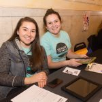 Repair the World Pittsburgh fellows Becca Sufrin and Zhenya Gelman table at East Liberty Celebrates MLK 2015.