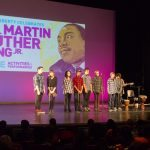 Young people celebrate the legacy of MLK at the Kelly Strayhorn Theater