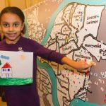 A young girl participates in activities at the Kelly Strayhorn on MLK Day 2015