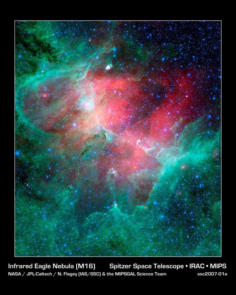NASA Spitzer image of Eagle Nebula